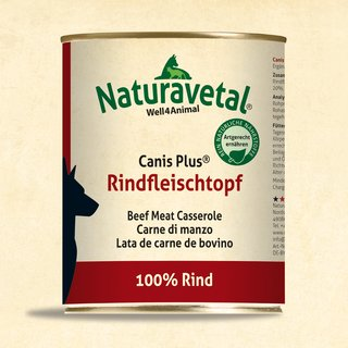 Naturavetal® Canis Plus Rindfleischtopf