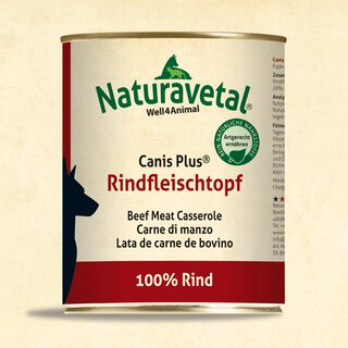 Naturavetal® Canis Plus Rindfleischtopf 820g