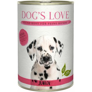 Dogs Love Junior Rind 6 x 400g