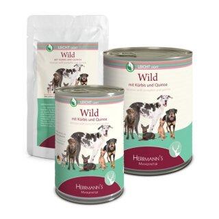 Herrmanns Wild mit Kürbis und Quinoa