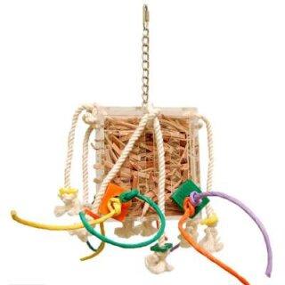 Papageienspielzeug Crazy Leather Box Medium